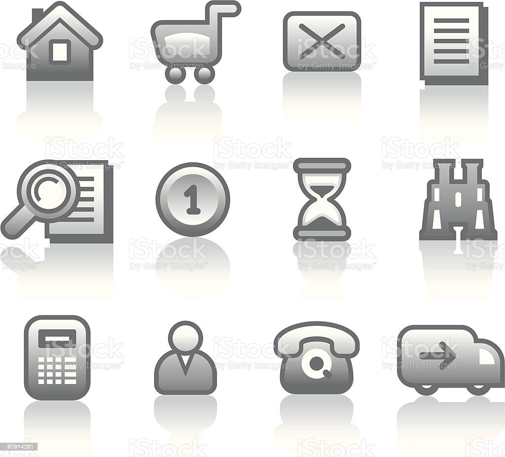 Vector E-Commerce Icon Set royalty-free vector ecommerce icon set stock vector art & more images of adult
