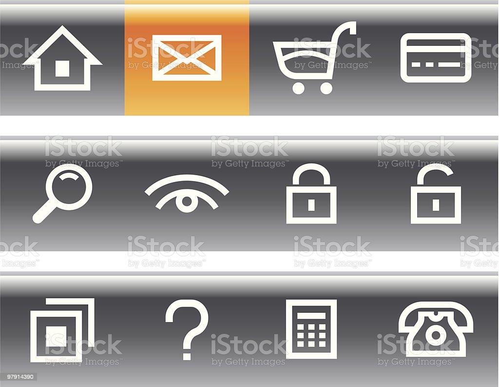 Vector E-Commerce Icon Set royalty-free vector ecommerce icon set stock vector art & more images of black color