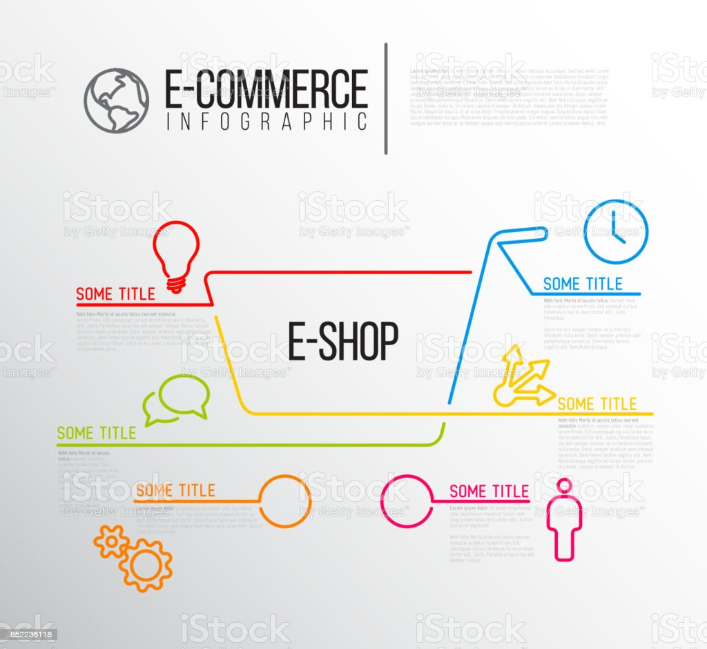 vector ecommerce infographic report template stock vector art more