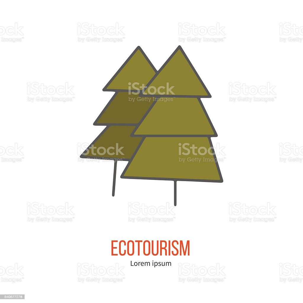 Vector ecotourism design element isolated on white vector art illustration