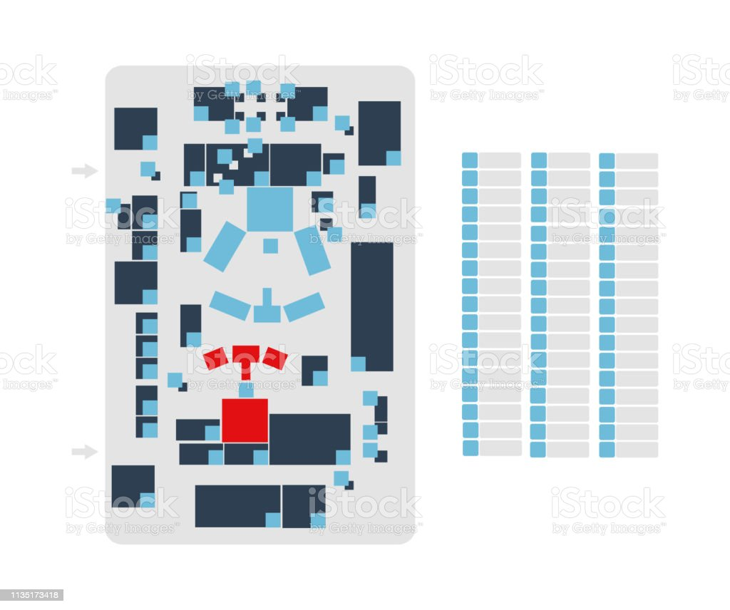 Vector Editable Floor Plan Suitable As A Map Of Campus Office