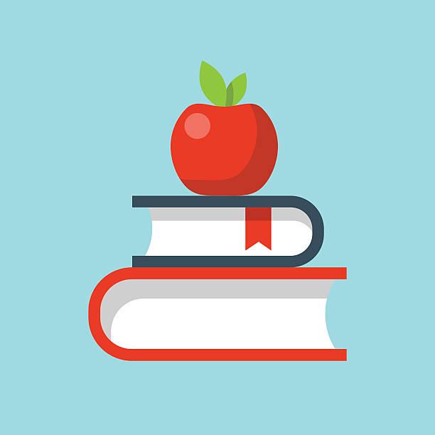 ilustrações, clipart, desenhos animados e ícones de vetor ícones de educação plana - professor