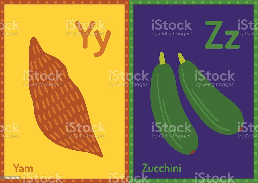 Vector educational cards with alphabet letters in A5 format vector art illustration