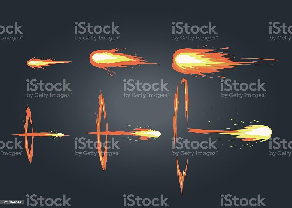Vector effect for game. Explode animation. vector art illustration