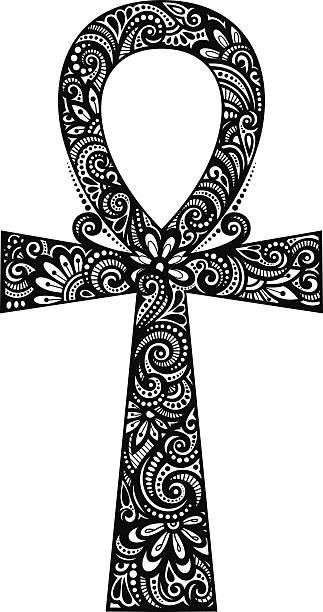 Vector Egyptian Cross (Ankh) vector art illustration