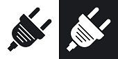 Vector electric plug icon. Two-tone version