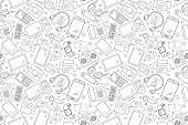 Vector electronic and device pattern. electronic and device seamless background
