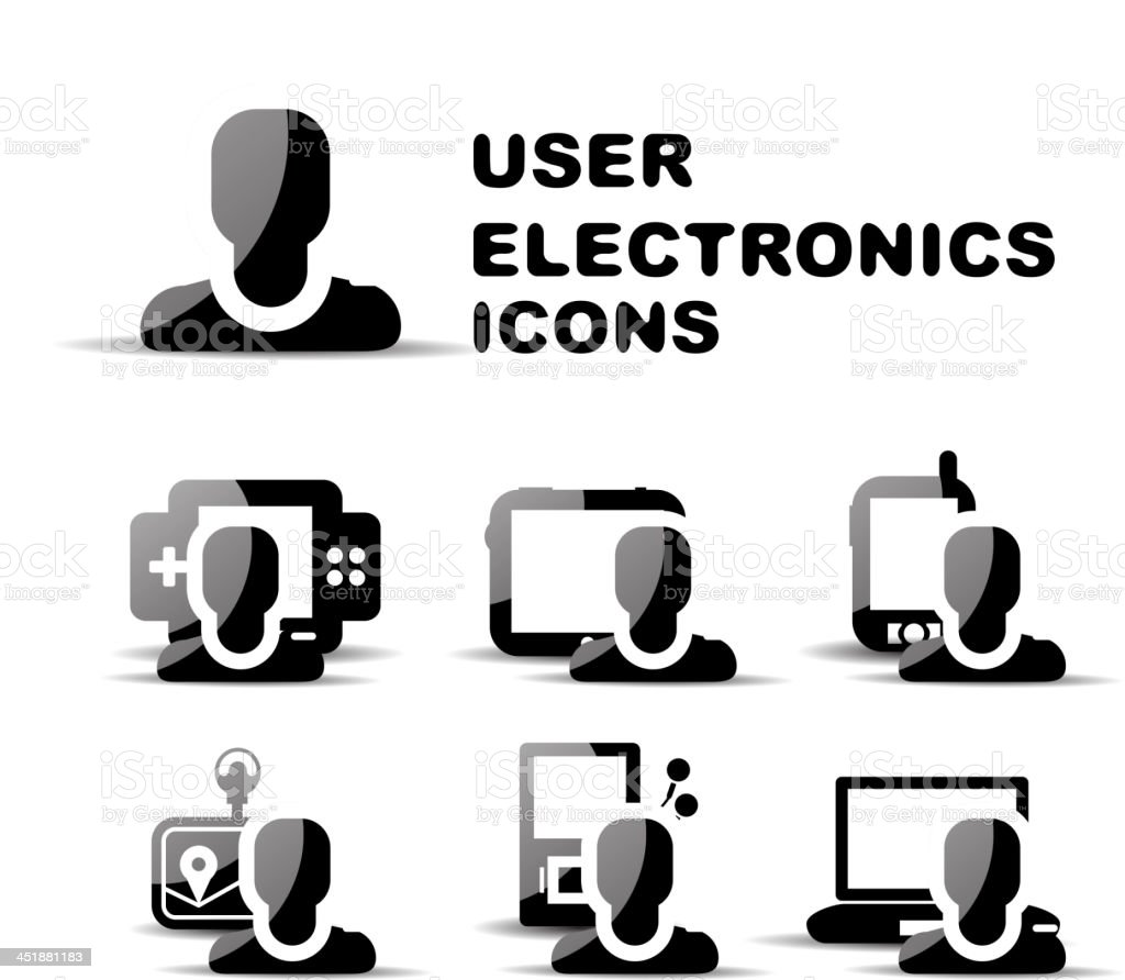 Vector electronics user icons royalty-free stock vector art
