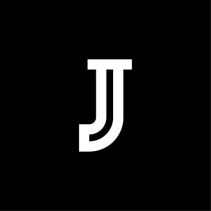 Vector Elegant Serif Logo Letter J