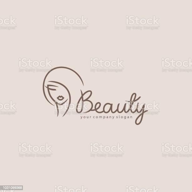 Vektorelementdesign Für Beautysalon Friseur Kosmetik Stock Vektor Art und mehr Bilder von Abstrakt