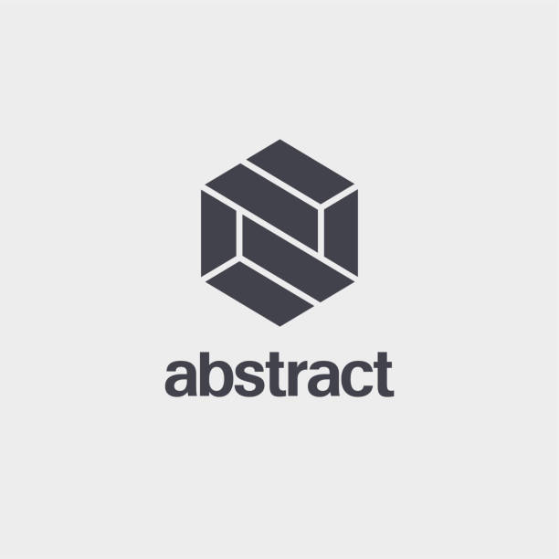 Vector element design template for business. Hexagon sign vector art illustration