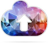 Abstract Creative concept vector icon of cloud for Web and Mobile Applications isolated on background. Vector illustration template design, Business infographic and social media, origami icons.