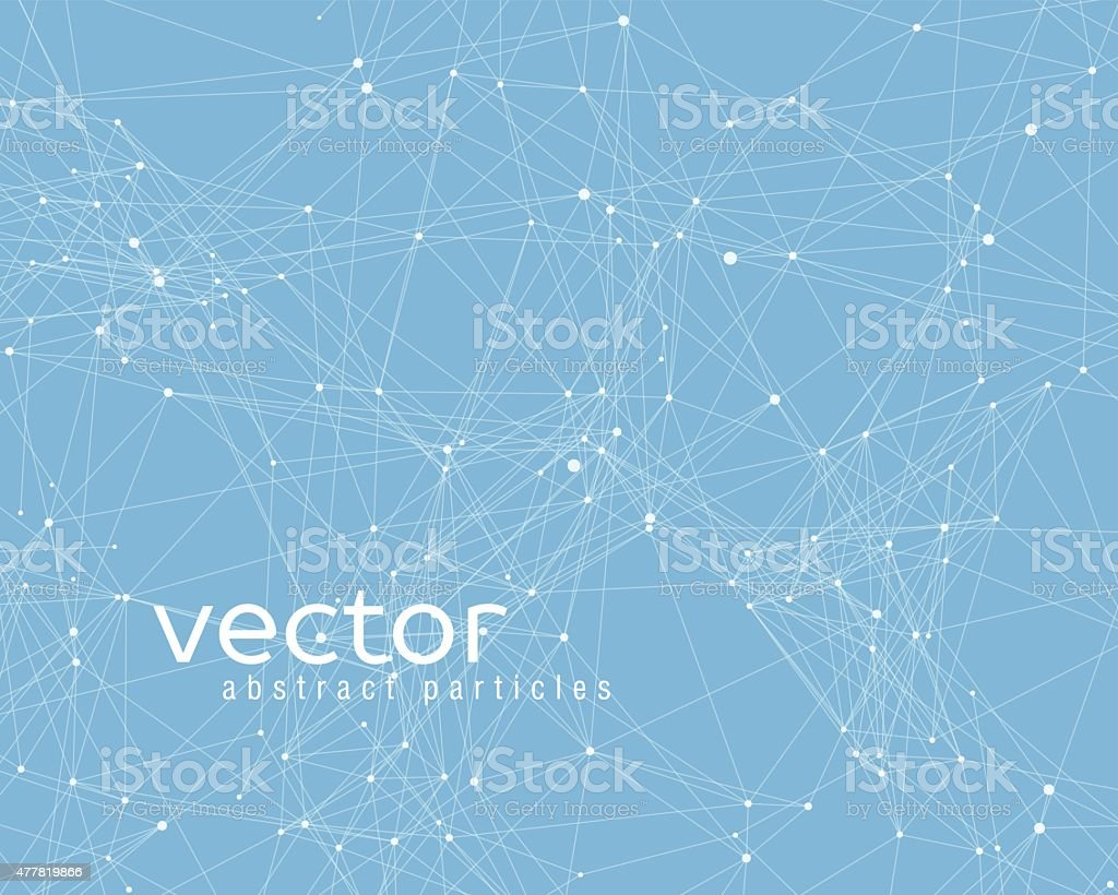 Vector element of cybernetic particles vector art illustration
