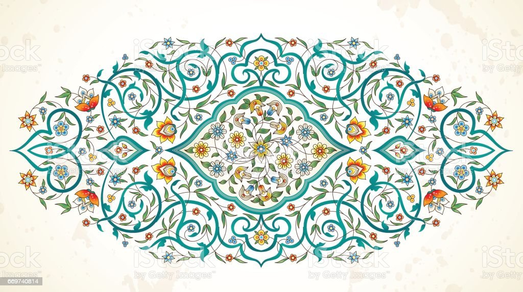 Vector element, ornament in Eastern style. vector art illustration