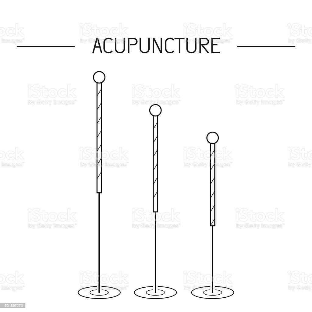 vector elementos para la acupuntura, masajes, TCM 02 - ilustración de arte vectorial