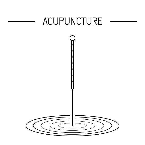 bildbanksillustrationer, clip art samt tecknat material och ikoner med vector elements for acupuncture and massage, tcm 03 - acupuncture