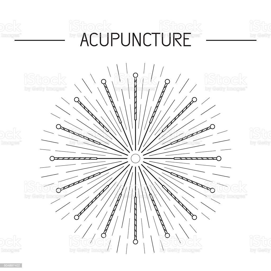 vector elementos para la acupuntura, masajes, TCM 06 - ilustración de arte vectorial