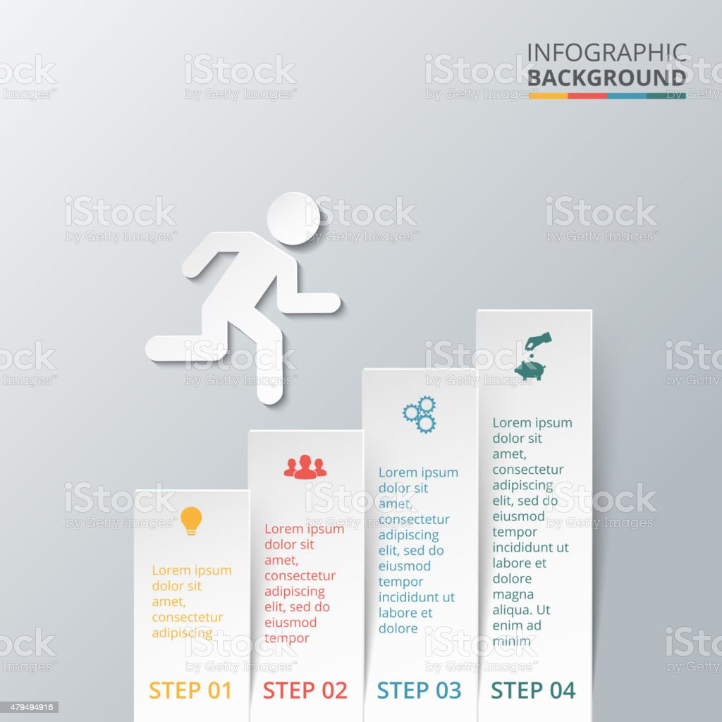 Vector elements with arrow for infographic. vector art illustration