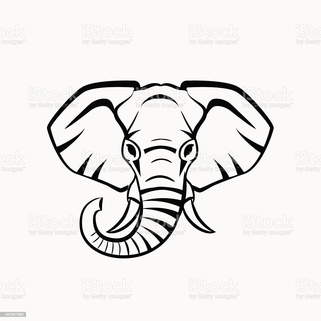 Vector Elephant head