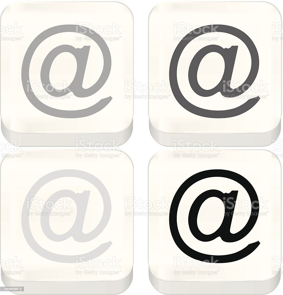 Vector e-mail buttons royalty-free stock vector art