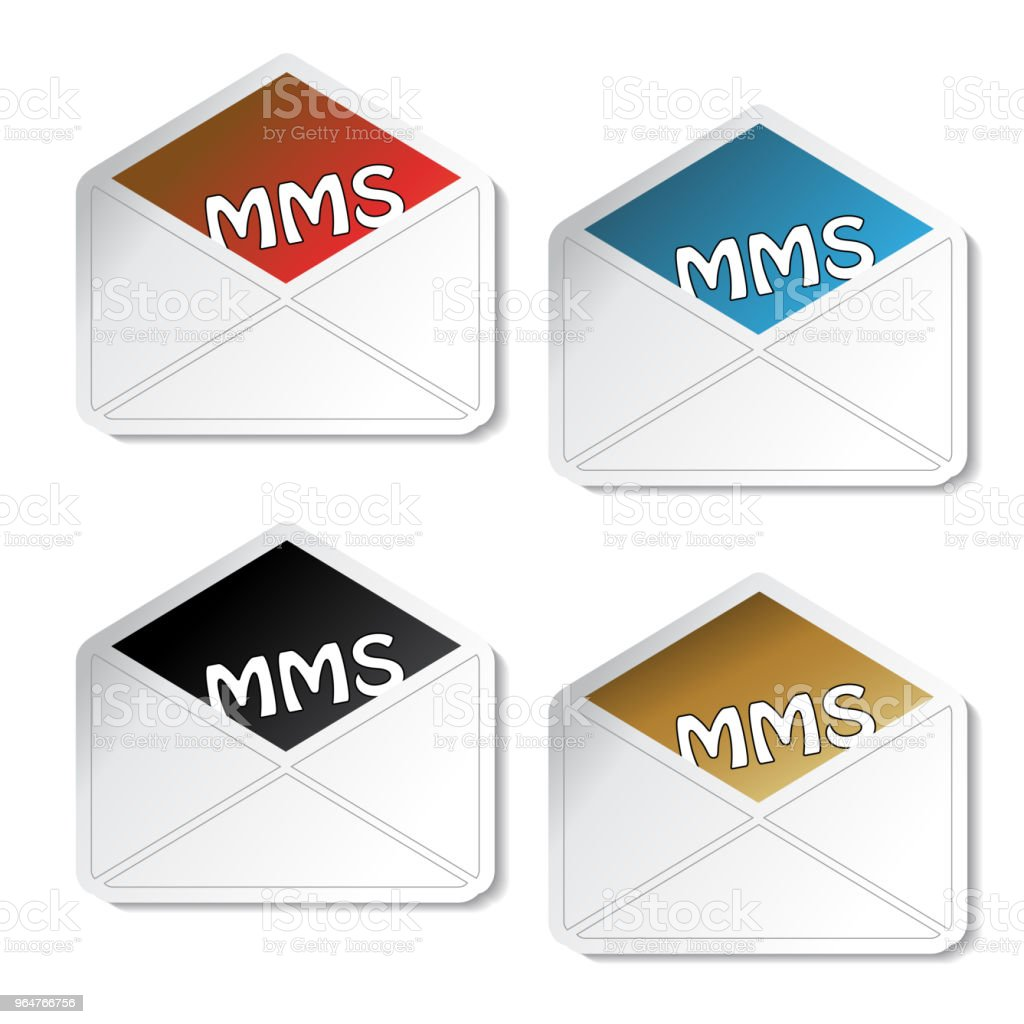 Vector e-mail stickers, symbol of envelope for send message royalty-free vector email stickers symbol of envelope for send message stock vector art & more images of adhesive note