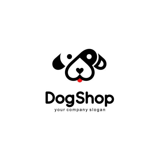 Vector  emblem design. Dog icon Vector  emblem design. Dog icon animal shelter stock illustrations
