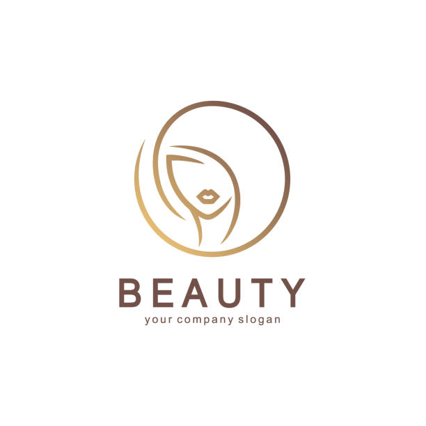 vector emblem design for beauty salon, hair salon, cosmetic - hairdresser stock illustrations