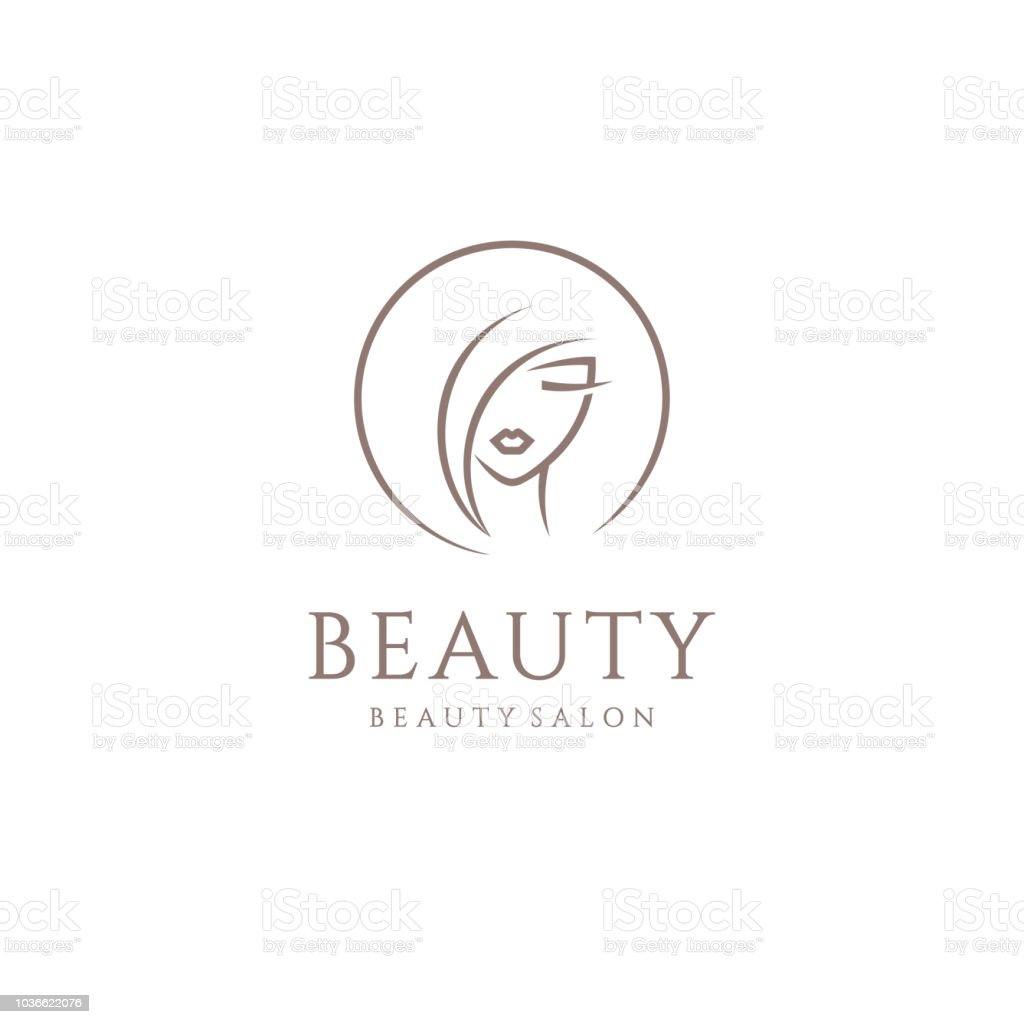 Vector emblem design for beauty salon, hair salon, cosmetic vector art illustration