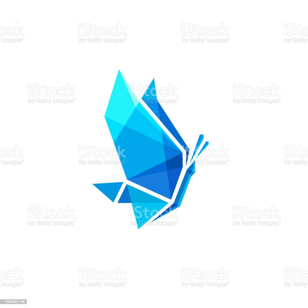 Vector emblem design. Ice butterfly sign for cryotherapy vector art illustration