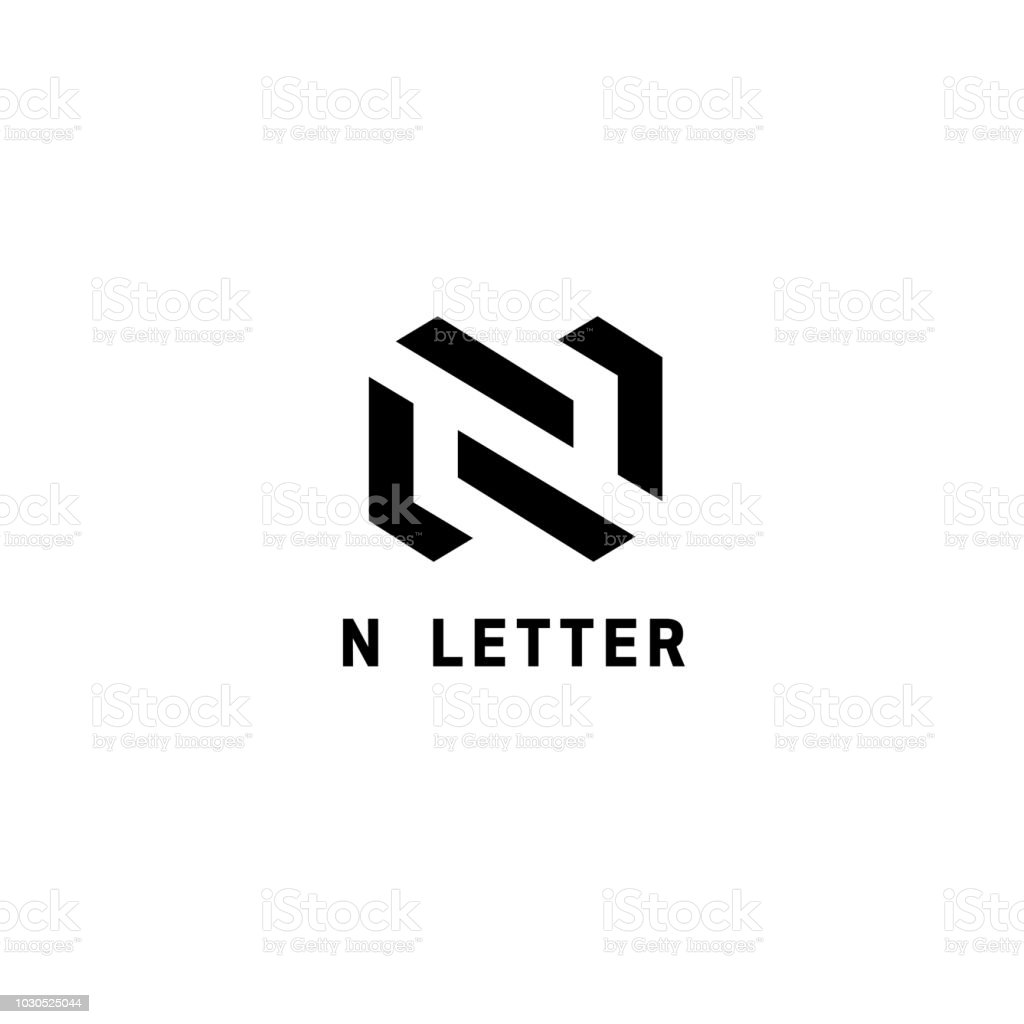 vector emblem design template for business letter n sign royalty free vector emblem design