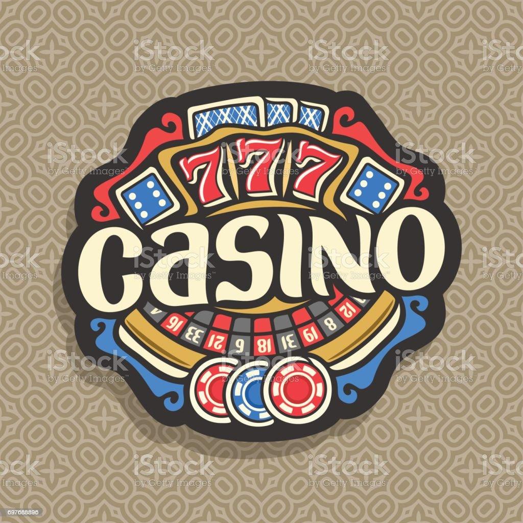 Vector emblema para Casino - ilustración de arte vectorial