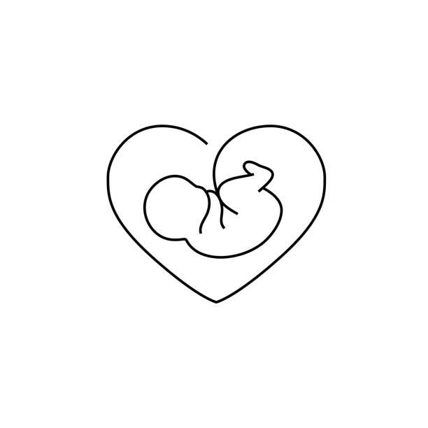 ベクトル胚アイコン - 新生児点のイラスト素材/クリップアート素材/マンガ素材/アイコン素材