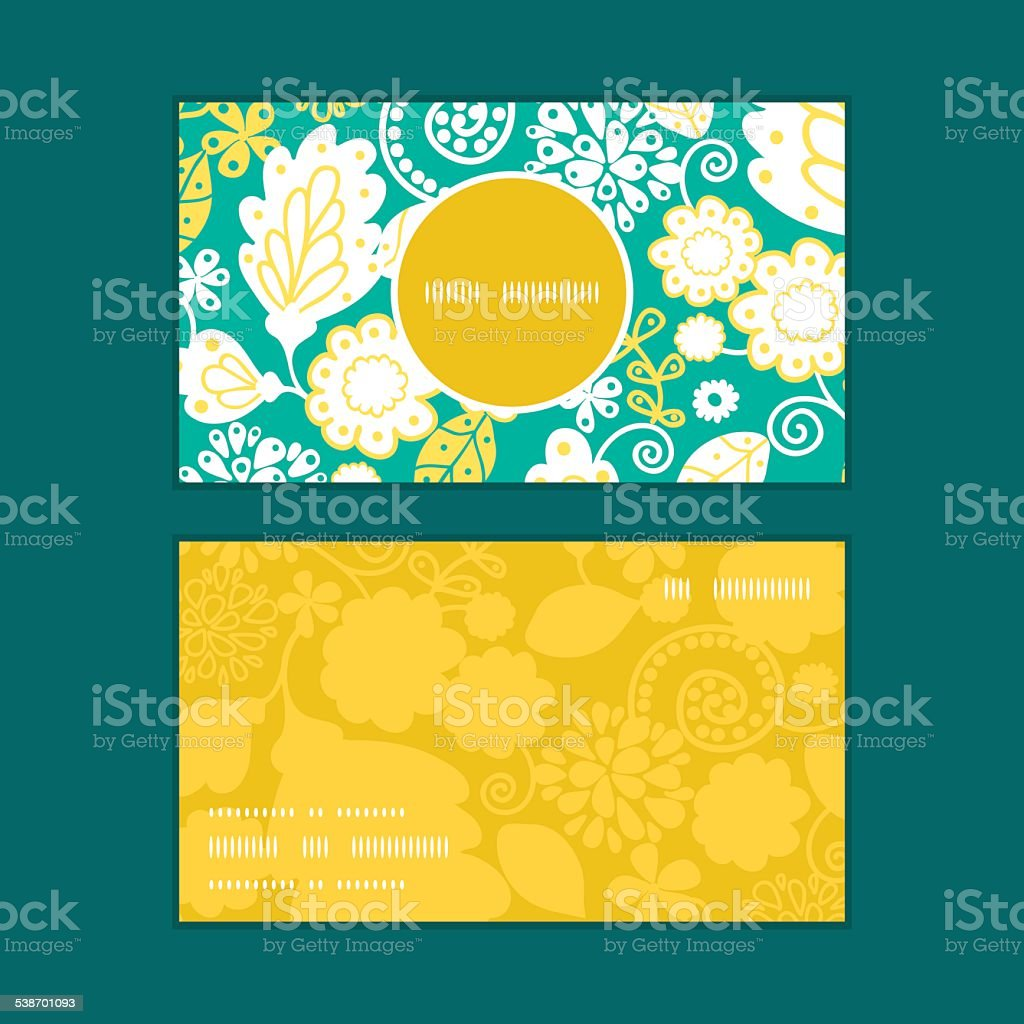 Vector emerald flowerals vertical round frame pattern business cards vector emerald flowerals vertical round frame pattern business cards set royalty free stock vector art reheart Gallery