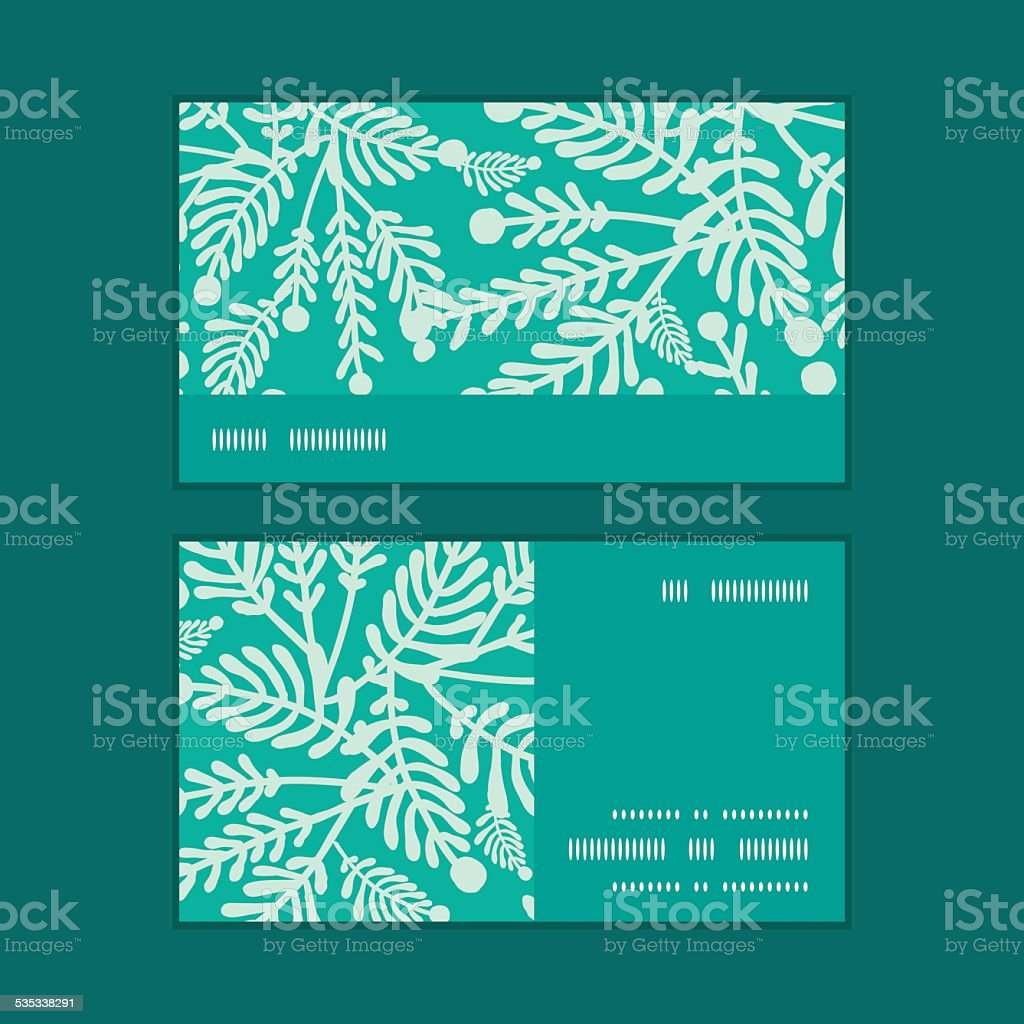 Vector emerald green plants horizontal stripe frame pattern business vector emerald green plants horizontal stripe frame pattern business cards royalty free stock vector art reheart Gallery
