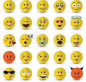 Vector emoji set