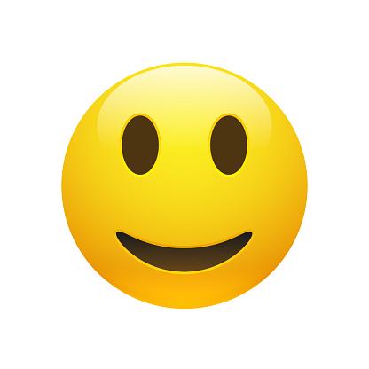 Vector Emoji yellow smiley face clipart