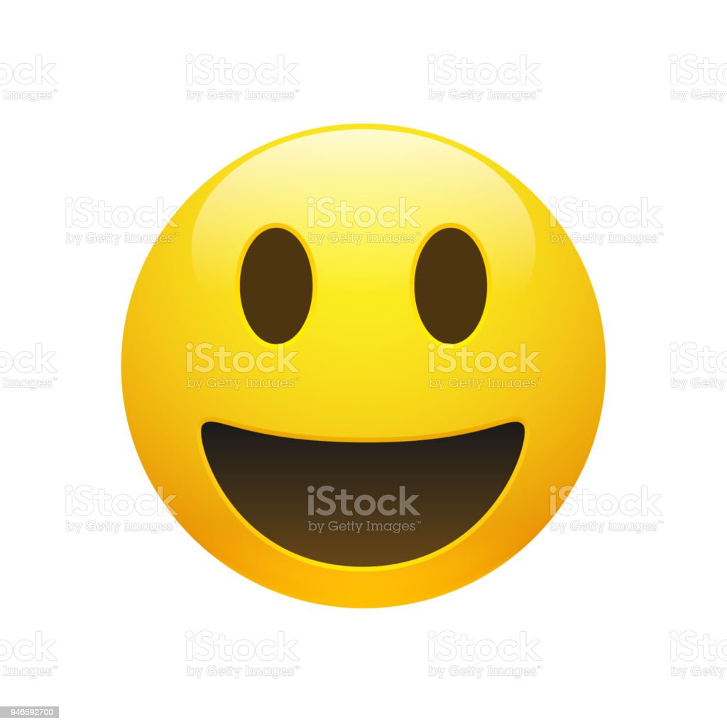Vector Emoji yellow smiley face vector art illustration
