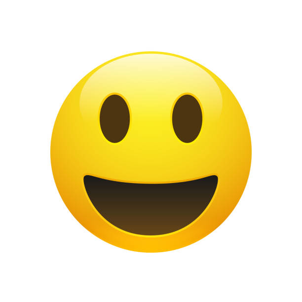 vector emoji yellow smiley face - happy emoji stock illustrations, clip art, cartoons, & icons