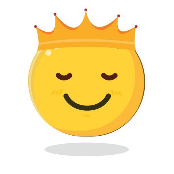 Best Crown Emoji Illustrations, Royalty-Free Vector Graphics
