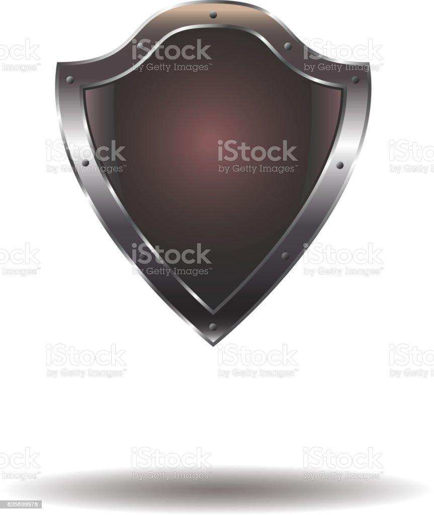 Vector Empty metal shield royalty-free vector empty metal shield stock vector art & more images of computer graphic