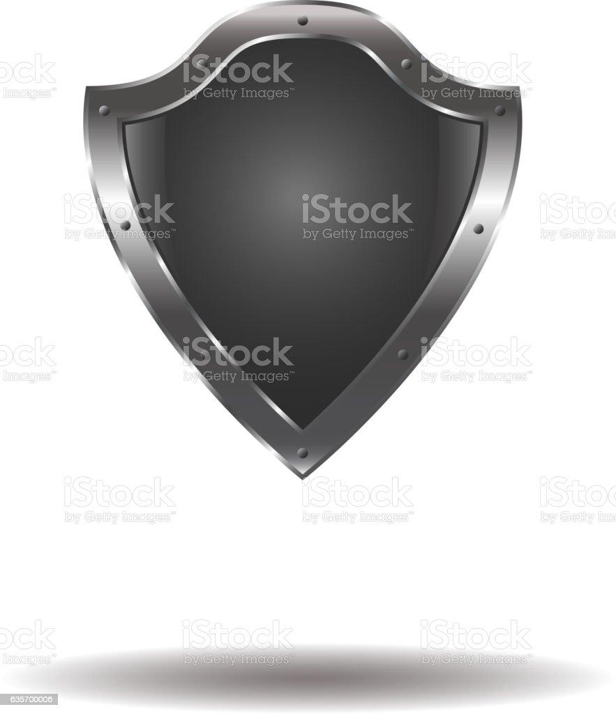 Vector Empty metal shield royalty-free vector empty metal shield stock vector art & more images of chrome