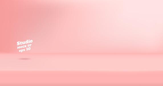 Vector Tom Pastell Rosa Färg Studio Tabell Rum Bakgrund Produkt Display Med Kopia Utrymme För Visning Av Innehåll Design Banner För Annonsera Produkt På Hemsida-vektorgrafik och fler bilder på Abstrakt