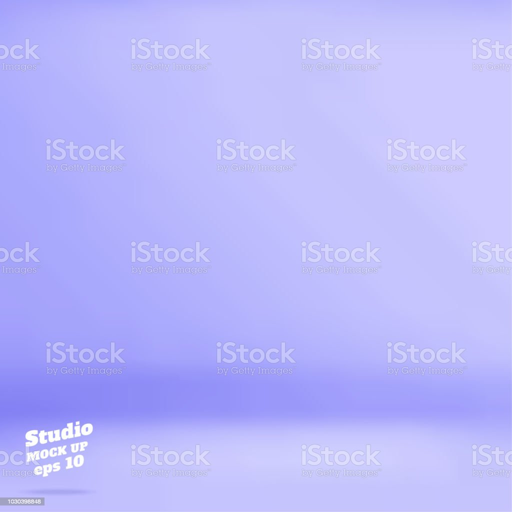 vector empty pastel purple blue color studio room background