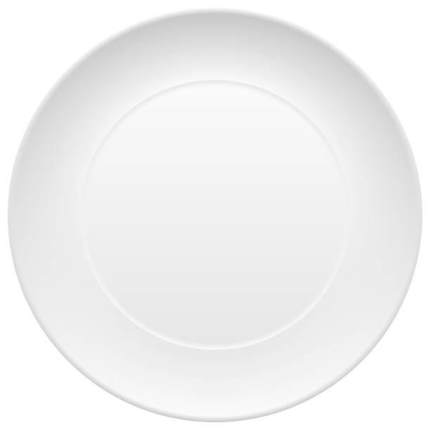 bildbanksillustrationer, clip art samt tecknat material och ikoner med vector tom tallrik - empty plate