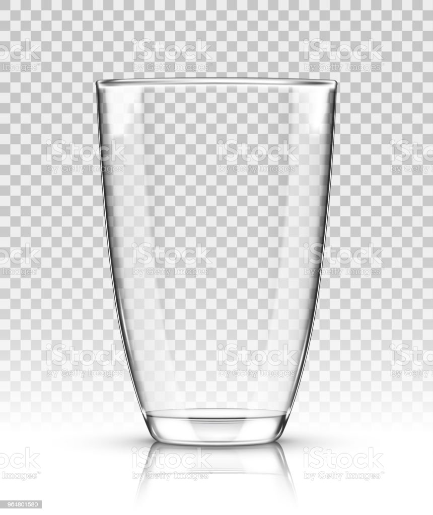 Vector empty realistic drinking glass on transparent background royalty-free vector empty realistic drinking glass on transparent background stock vector art & more images of alcohol