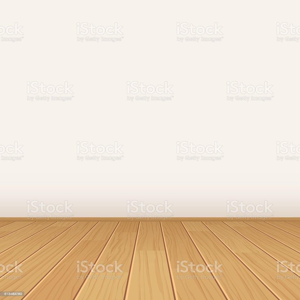 vector empty room with wall and wooden floor stock vector art istock