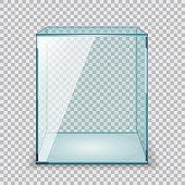Vector Empty Transparent Glass Box