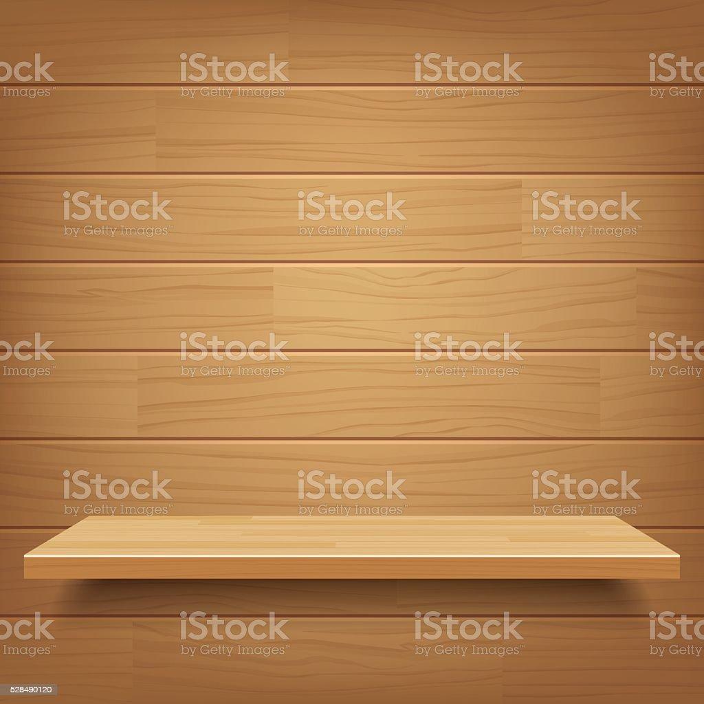 Wektor Puste Drewniane Półki Na ścianie Drewniane Tła