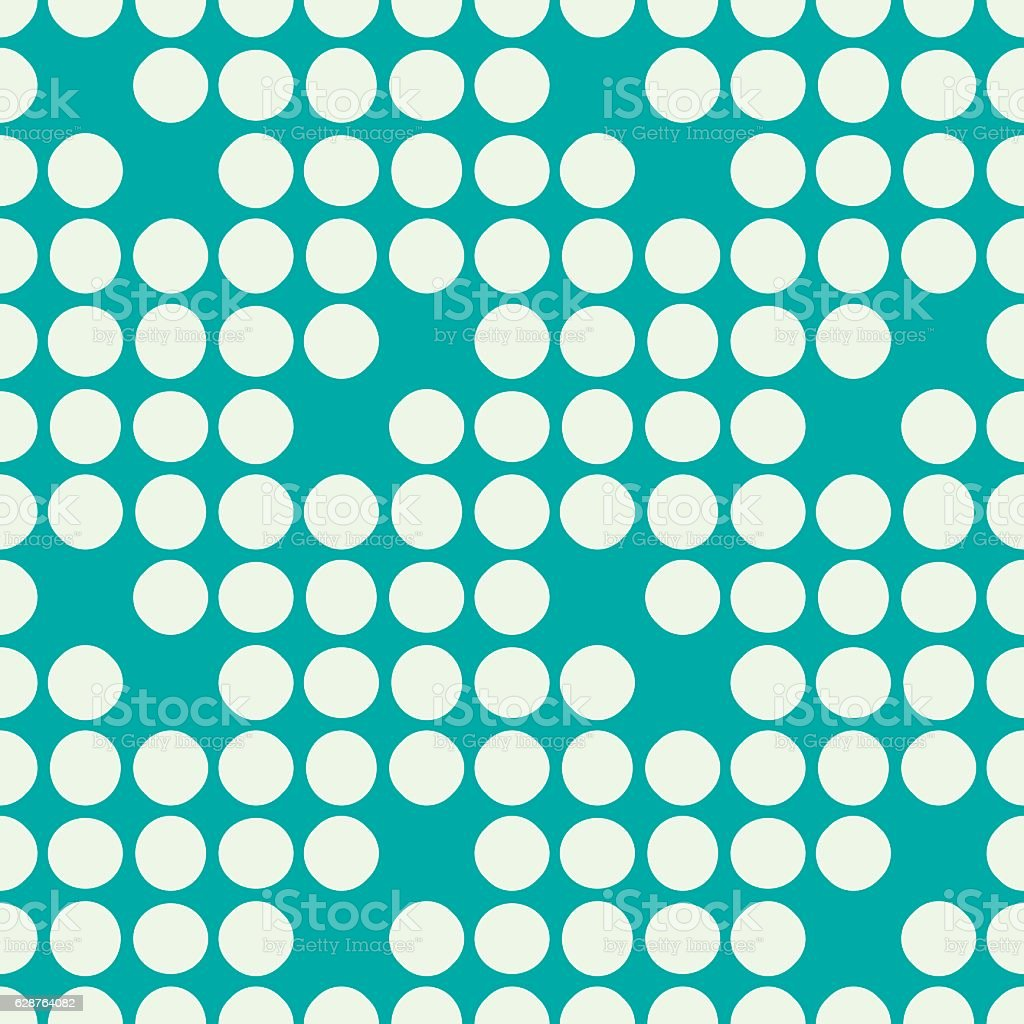 Vector endless geometric pattern composed with circles and lines vector art illustration