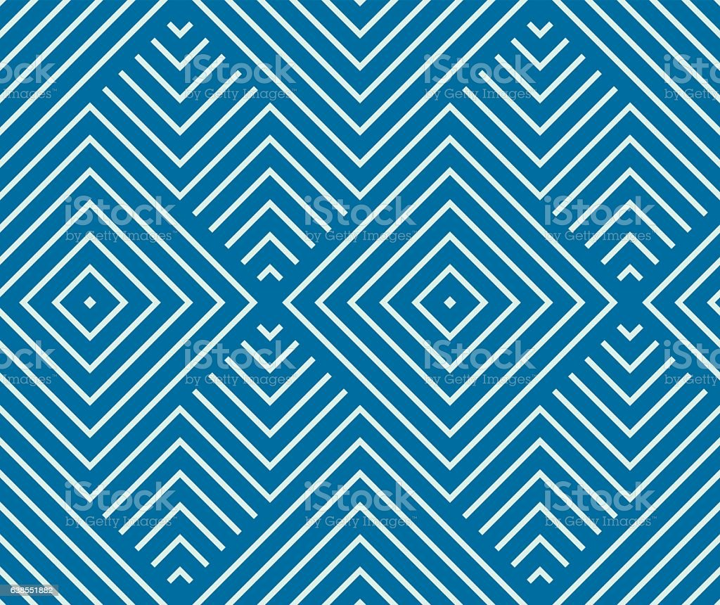 Vector endless geometric pattern composed with squares and lines vector art illustration